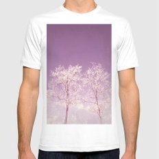 Winter's longing ~ Abstract  MEDIUM Mens Fitted Tee White