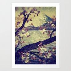 Templing at Hanuii Art Print