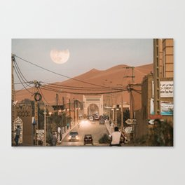 Merzouga Moonrise Canvas Print