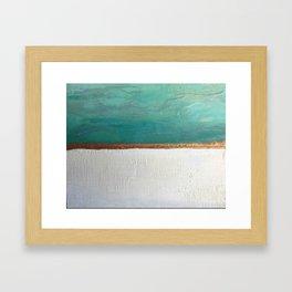 Northern Lights (teal)  Encaustic Painting Framed Art Print