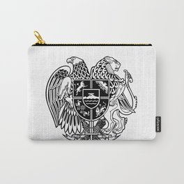 ARMENIAN COAT OF ARMS - Black Carry-All Pouch