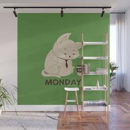 Monday Cat Wall Mural