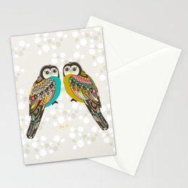 Facing owls Stationery Cards