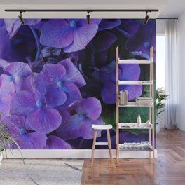 Purple Hydrangeas Wall Mural