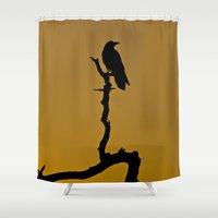 silhouette Shower Curtains featuring Silhouette by Ian Bevington