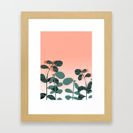 Later Days - indoor house plant ombre pink palm springs desert socal los angeles urban hipster retro Framed Art Print