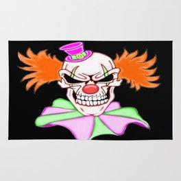 Demented Clown Skull Rug