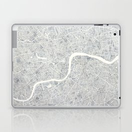 City Map London watercolor map Laptop & iPad Skin