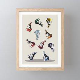 Falling Jordans Framed Mini Art Print