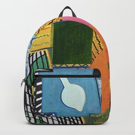 White exit Backpack