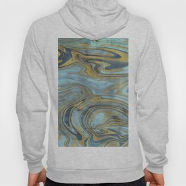Liquid Teal and Gold Hoody