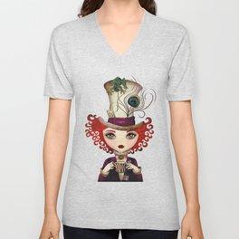 Lady Hatter Unisex V-Neck