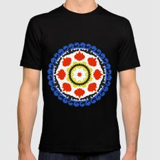 Bold and bright beauty of suzani patterns ver.5 Black Mens Fitted Tee MEDIUM