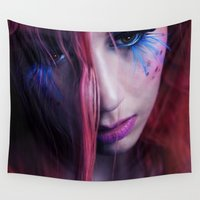 belle Wall Tapestries featuring Annalee Belle by Imustbedead