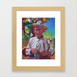 """""""Herder with Prayer Beads"""" Framed Art Print"""