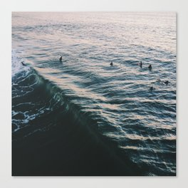Searching the Surf Canvas Print