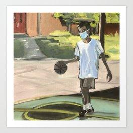 Social Distancing Basketball Art Print