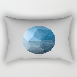 Continuum grey Rectangular Pillow