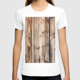 Wood pattern T-shirt