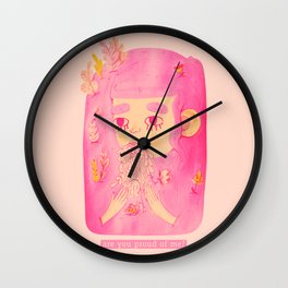 the flower eater Wall Clock