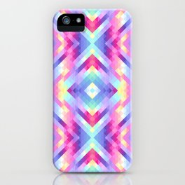 Geometric pastel iPhone Case