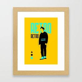 SHINee - Retro Framed Art Print