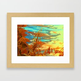 Autumn Nature Water Colors Framed Art Print