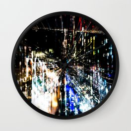 Night in the city Wall Clock