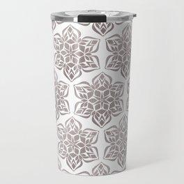 Silver Snowflake Travel Mug