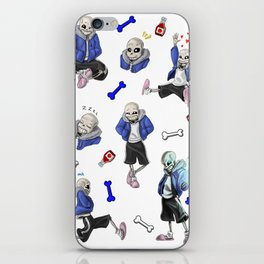 Sans doodles iPhone Skin