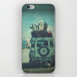 NEVER STOP EXPLORING II SOUTH AMERICA iPhone Skin