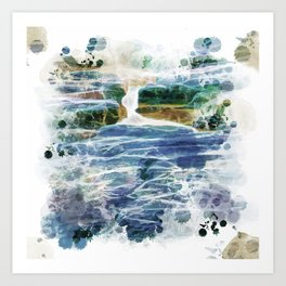 Abstract rock pool in the rough rocks Art Print