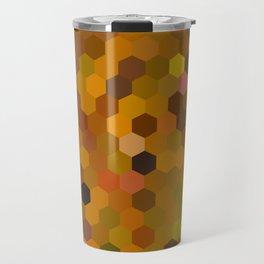 dima - warm autumn colours of brown rust mustard orange mosaic design Travel Mug