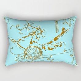 Tiny Dancer [Locust] Rectangular Pillow