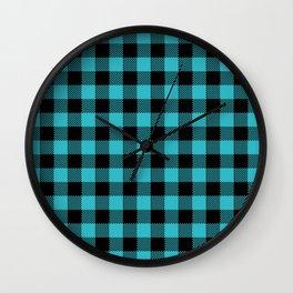 PNW Plaid Douglas Fir Wall Clock