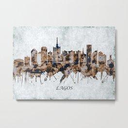 Lagos Nigeria Cityscape Metal Print
