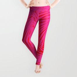 Palms Pink & Red Leggings