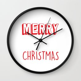 Have Yourself a Merry Little Christmas Eve Xmas Holiday Celebration Wall Clock