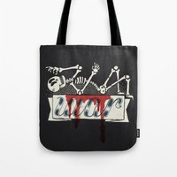war Tote Bags featuring war by Landon Sheely