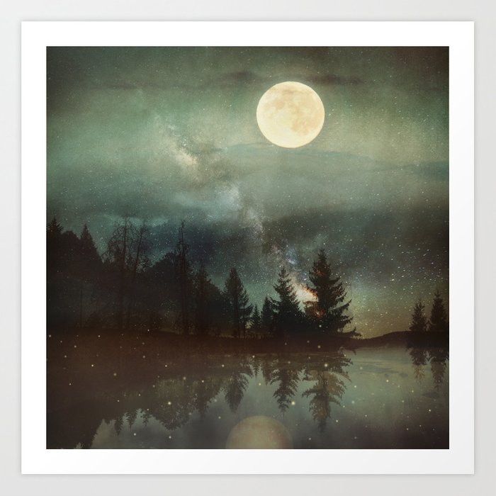 Midnight Fireflies Kunstdrucke