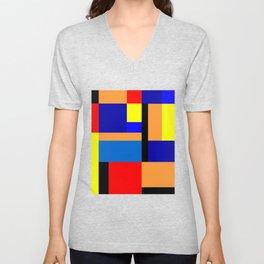 Mondrian #35 Unisex V-Neck