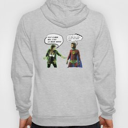 H-MAN MEETS LA MAIN VERTE (Drawing #1 white bubble version) Hoody