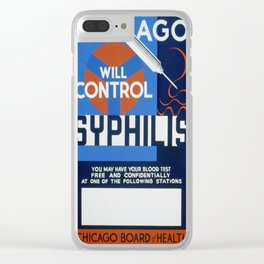 Vintage poster - Syphilis Clear iPhone Case