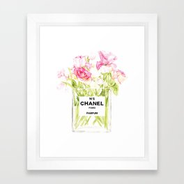 PERFUME FLORAL No.5 Framed Art Print