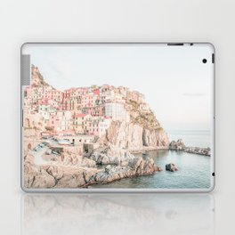 Positano, Italy Amalfi coast pink-peach-white travel photography in hd Laptop & iPad Skin
