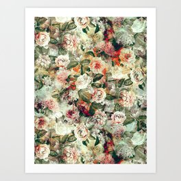 Floral Pattern RPE121 Art Print