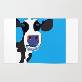 Cow in the Blue Sky Rug