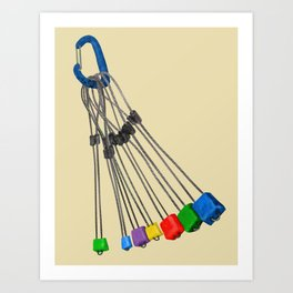 Rock Climbing Wires Art Print