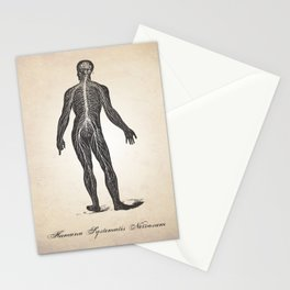 Nervous System Human Anatomy Art Print Stationery Cards