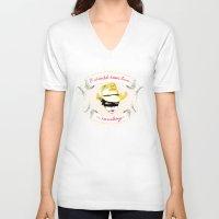 cowboy V-neck T-shirts featuring Cowboy by la belette rose